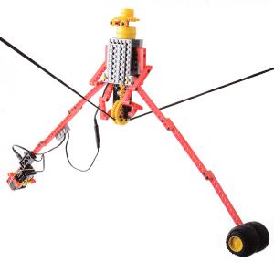 綱(5ミリ程度の太めの糸)を使って動かすロボットです。