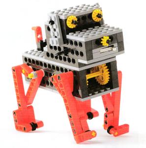 愛着がわく動きの犬型ロボットです。