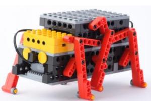 6本あしで複雑な動きをするロボットです。